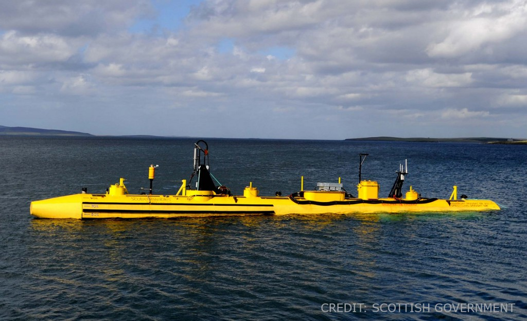 Tidal turbine prototype in Scotland, UK.